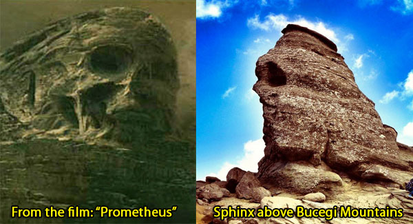The two sphinx side by side